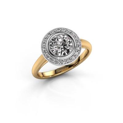 Promise ring Noud 1 RND 585 goud diamant 1.20 crt
