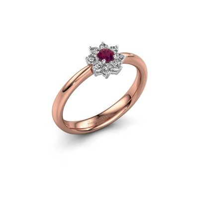 Picture of Engagement ring Camille 1 585 rose gold rhodolite 3.4 mm