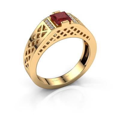 Herrenring Jonathan 585 Gold Rubin 5 mm