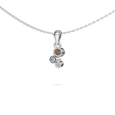 Foto van Hanger Tessa 585 witgoud bruine diamant 0.105 crt