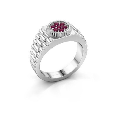 Picture of Men's ring Nout 925 silver rhodolite 2 mm
