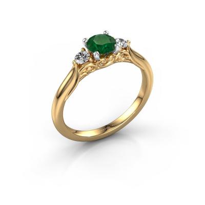 Foto van Verlovingsring Laurian RND 585 goud smaragd 5 mm