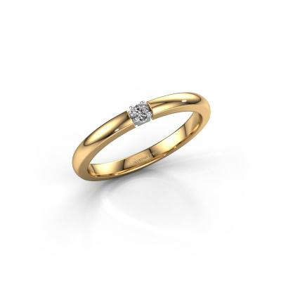 Foto van Verlovingsring Rianne 1 585 goud diamant 0.10 crt