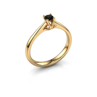 Verlobungsring Janna 1 585 Gold Schwarz Diamant 0.18 crt