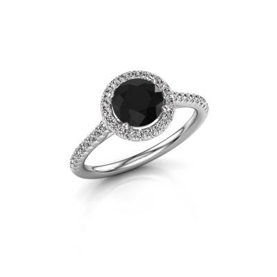 Foto van Verlovingsring Seline rnd 2 585 witgoud zwarte diamant 1.64 crt