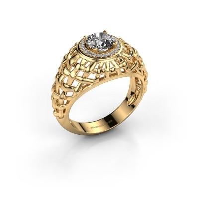 Foto van Pinkring Jens 375 goud lab-grown diamant 1.12 crt