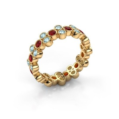 Ring Victoria 375 gold ruby 2.4 mm