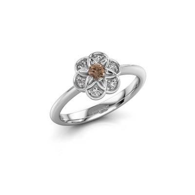 Verlobungsring Uma 925 Silber Braun Diamant 0.10 crt