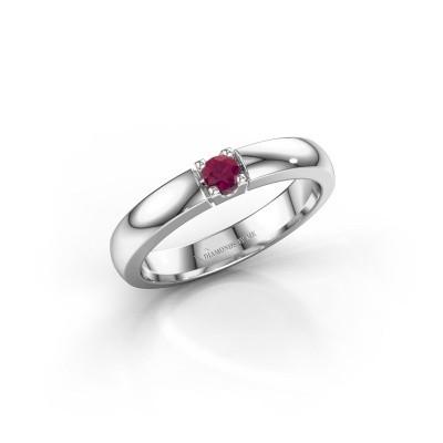 Engagement ring Rianne 1 925 silver rhodolite 3 mm
