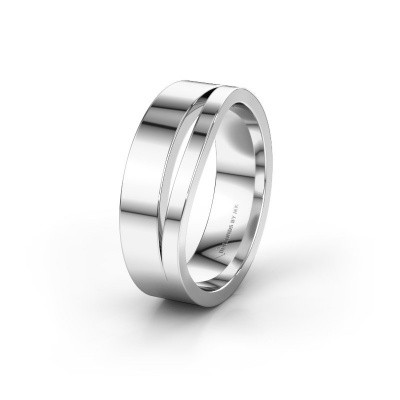 Wedding ring WH6000M16AP 925 silver ±6x1.7 mm