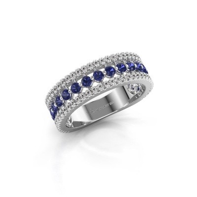 Engagement ring Elizbeth 1 585 white gold sapphire 2 mm