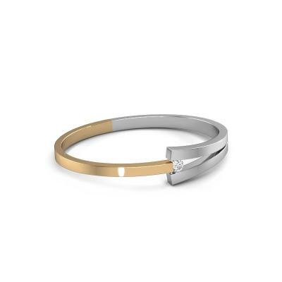 Slavenarmband Sofia 585 goud diamant 0.40 crt