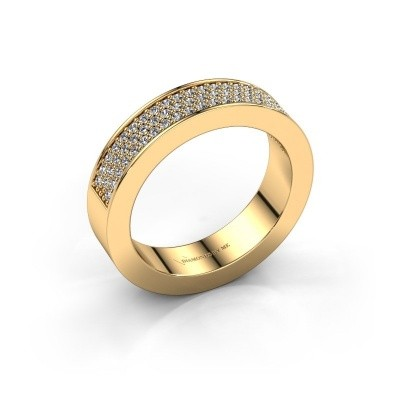Ring Lindsey 2 375 gold diamond 0.436 crt