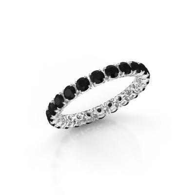 Foto van Ring Vivienne 2.7 950 platina zwarte diamant 2.016 crt