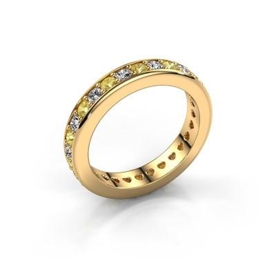 Aanschuifring Nienke 375 goud gele saffier 2.2 mm
