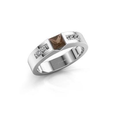 Foto van Verlovings ring Arlena 2 585 witgoud rookkwarts 4 mm