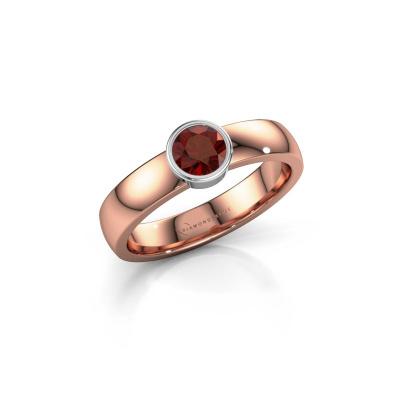Foto van Ring Ise 1 585 rosé goud granaat 4.7 mm
