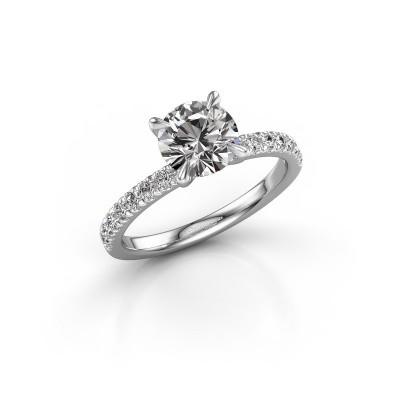 Foto van Verlovingsring Crystal rnd 2 925 zilver diamant 0.43 crt