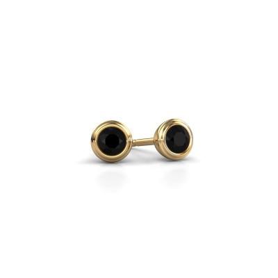 Foto van Oorstekers Shemika 585 goud zwarte diamant 0.18 crt