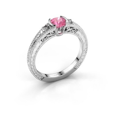 Picture of Engagement ring Anamaria 950 platinum pink sapphire 5 mm