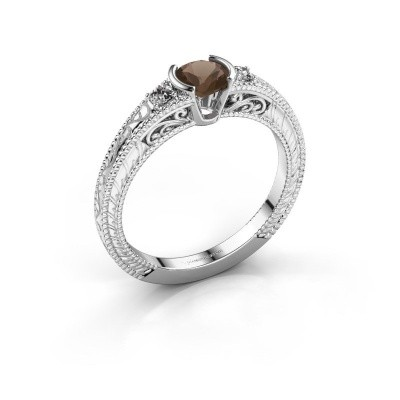 Picture of Engagement ring Anamaria 585 white gold smokey quartz 5 mm