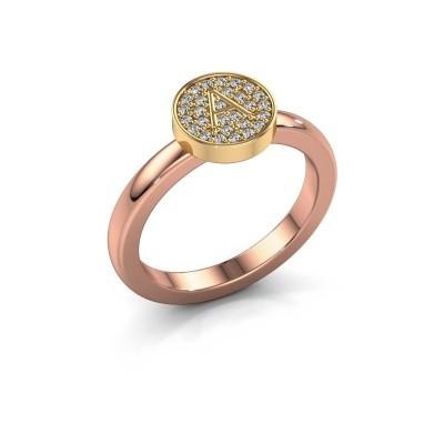 Ring Initial ring 010 585 rose gold
