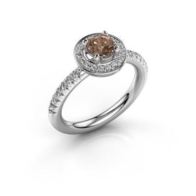 Foto van Ring Christine 925 zilver bruine diamant 0.845 crt