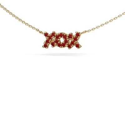 Ketting XoX 375 goud robijn 1.5 mm