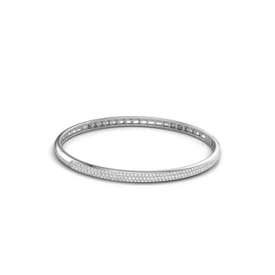 Foto van Slavenarmband Emely 4mm 950 platina lab-grown diamant 1.178 crt