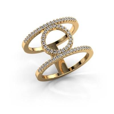 Ring Latoria 2 375 Gold Lab-grown Diamant 0.402 crt