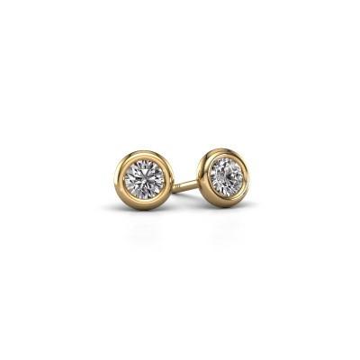 Foto van Oorstekers Lieke RND 375 goud diamant 0.50 crt