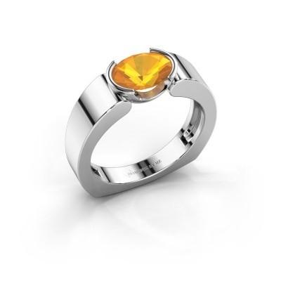 Ring Tonya 950 platina citrien 8x6 mm