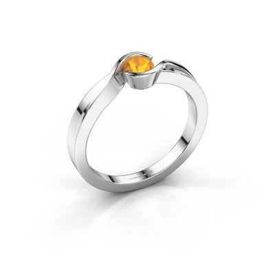Ring Lola 925 zilver citrien 4 mm