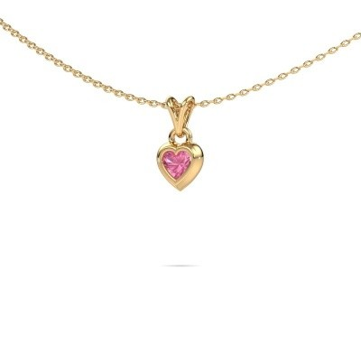 Bild von Anhänger Charlotte Heart 585 Gold Pink Saphir 4 mm
