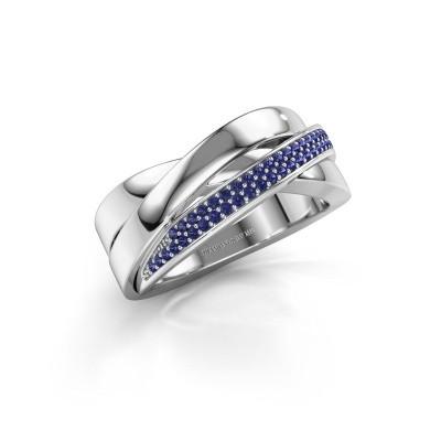 Foto van Ring Katherina 925 zilver saffier 1 mm