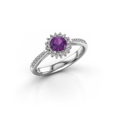 Engagement ring Tilly RND 2 925 silver amethyst 5 mm