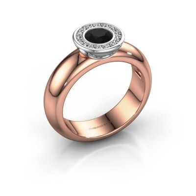 Picture of Stacking ring Anna 585 rose gold black diamond 0.735 crt