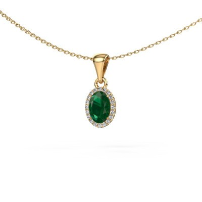 Picture of Pendant Seline ovl 585 gold emerald 7x5 mm