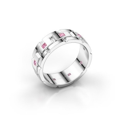 Picture of Men's ring Ricardo 585 white gold pink sapphire 2 mm
