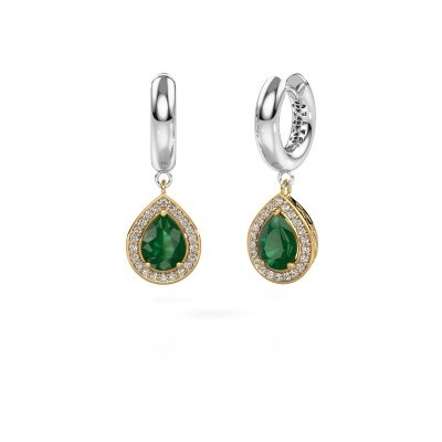Picture of Drop earrings Barbar 1 585 gold emerald 8x6 mm