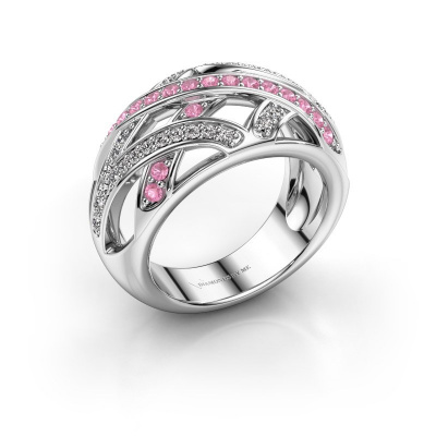 Ring Yinthe 925 silver pink sapphire 1.5 mm