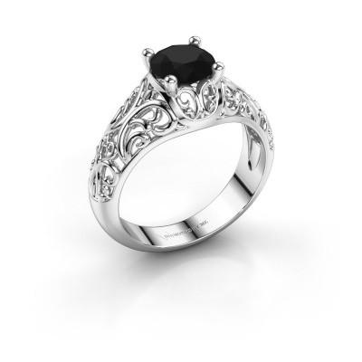 Foto van Ring Mirte 925 zilver zwarte diamant 1.20 crt