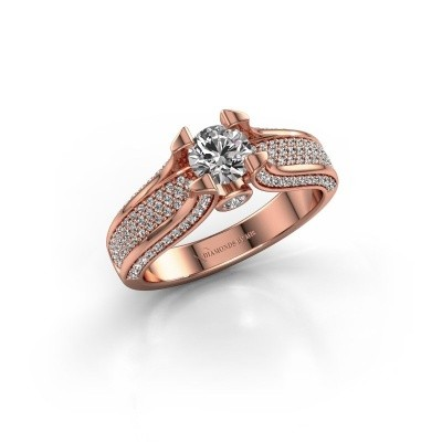 Foto van Verlovingsring Jeanne 2 375 rosé goud diamant 1.026 crt