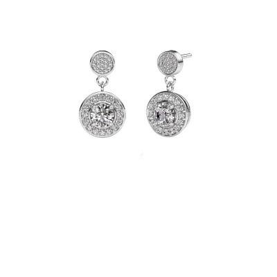 Foto van Oorbellen Ebonie 925 zilver diamant 1.479 crt