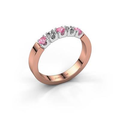 Engagement ring Dana 5 585 rose gold pink sapphire 3 mm