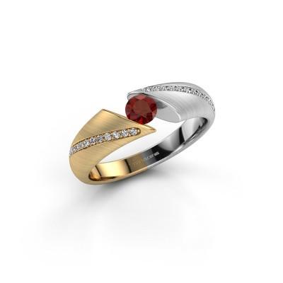 Foto van Ring Hojalien 2 585 goud granaat 4 mm