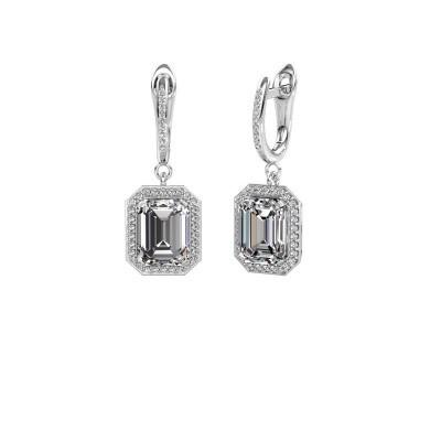 Oorhangers Dodie 2 585 witgoud diamant 5.345 crt