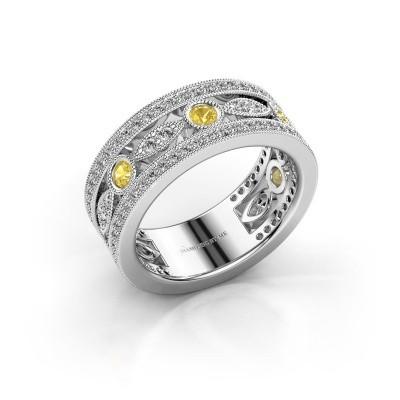 Foto van Ring Jessica 585 witgoud gele saffier 2.5 mm