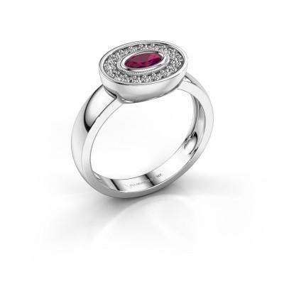 Ring Azra 925 silver rhodolite 5x3 mm