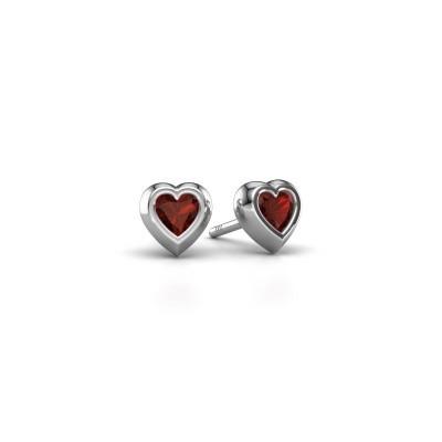 Picture of Stud earrings Charlotte 925 silver garnet 4 mm